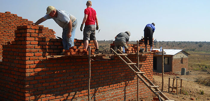 Building Basic Shelter in Malawi, Africa